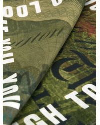 Givenchy - Green Dollar Print Scarf for Men - Lyst