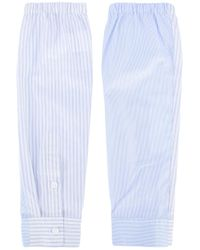 MM6 by Maison Martin Margiela | Blue Striped Gloves | Lyst