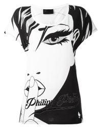Philipp Plein | White Face T-shirt | Lyst