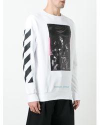 Off-White c/o Virgil Abloh - White Caravaggio Print Sweatshirt for Men - Lyst