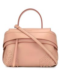 Tod's | Pink Mini Bauletto Waves Tote | Lyst