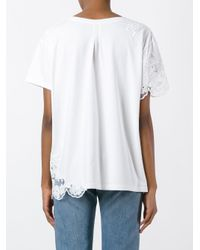 Ermanno Scervino - White Lace Inserts T-shirt - Lyst