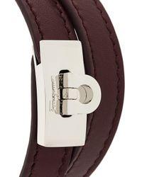 Ferragamo - Brown Double-strap Bracelet for Men - Lyst