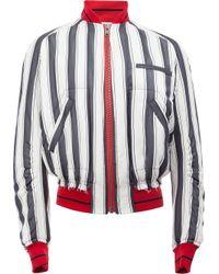 Haider Ackermann | Black Striped Bomber Jacket for Men | Lyst