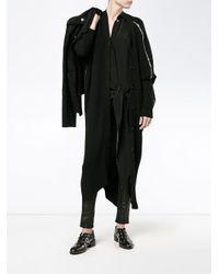 Ann Demeulemeester - Black Oversized Ribbed Cardigan - Lyst