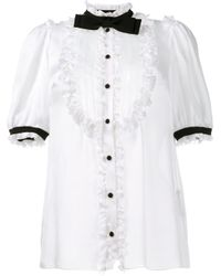 Dolce & Gabbana - White Tuxedo Blouse - Lyst