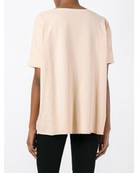 Roberto Collina - Natural - Loose-fit T-shirt - Women - Cotton - L - Lyst