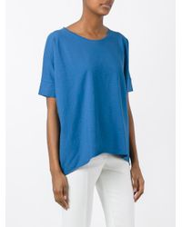 Roberto Collina - Blue Loose-fit T-shirt - Lyst