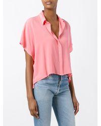 Roberto Collina | Pink Boxy Shirt | Lyst