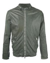 Giorgio Brato | Green - Zip Up Jacket - Men - Cotton/leather/nylon - 50 for Men | Lyst