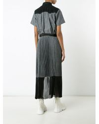 Sacai - Blue Slit Shirt Dress - Lyst