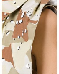 MM6 by Maison Martin Margiela - Green 'camouflage' Dress - Lyst