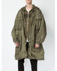 Juun.J - Green Multiple Pockets Hooded Coat for Men - Lyst