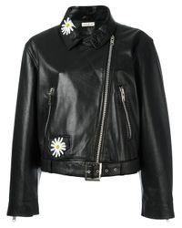 Natasha Zinko | Black Daisy Embellished Biker Jacket | Lyst