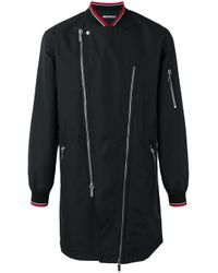 Dior Homme | Black Asymmetric Zip Jacket for Men | Lyst