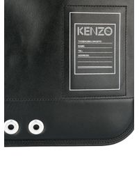 KENZO - Black Kanvas Clutch for Men - Lyst