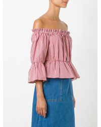 Dondup - Red Checked Blouse - Lyst