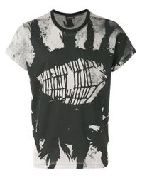 Ann Demeulemeester | Gray Cobweb Print T-shirt for Men | Lyst