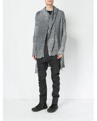 Masnada Black Drop-crotch Skinny Trousers for men