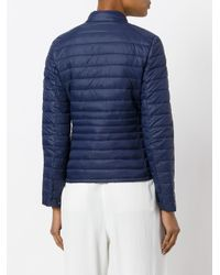 Save The Duck - Blue Logo Patch Padded Jacket - Lyst