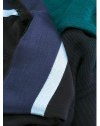 PS by Paul Smith - Blue Striped Scarf for Men - Lyst