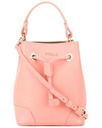 Furla | Pink Mini Bucket Tote | Lyst