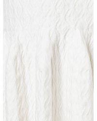 Alaïa - White Ruffled Hem Dress - Lyst