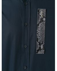 OAMC - Blue Snakeskin Detail Shirt for Men - Lyst