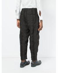 Uma Wang - Black Striped Tie-waist Joggers for Men - Lyst