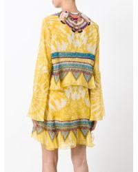 Roberto Cavalli | Yellow Layered Shift Dress | Lyst