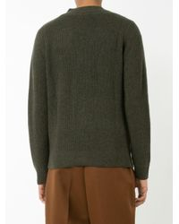 RRL - Green Patch Pockets Buttoned Cardigan for Men - Lyst