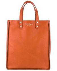 Ferragamo | Orange Top-handle Tote | Lyst
