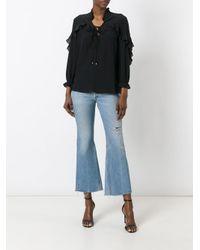 Just Cavalli - Black Sheer Ruffled Shirt - Lyst