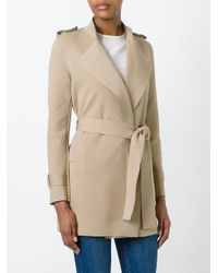 Harris Wharf London | Natural Belted Coat | Lyst