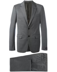 Prada | Gray Notched Lapel Two-piece Suit for Men | Lyst