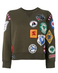 DSquared² - Green Badge Patch Sweatshirt - Lyst