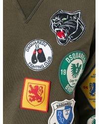 DSquared² - Green Badge Patch Sweatshirt - Lyst