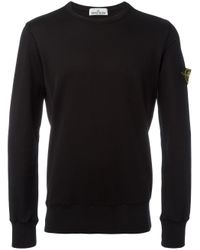 Stone Island | Black Crew-neck Sweatshirt for Men | Lyst
