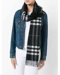 Burberry | Black House Check Scarf | Lyst