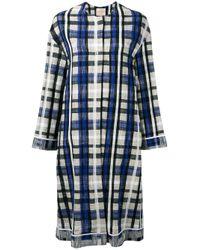 Erika Cavallini Semi Couture | Blue - Dakota Coat - Women - Cotton/spandex/elastane/polyimide - 42 | Lyst