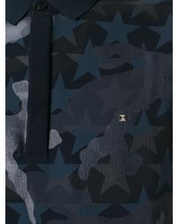 Valentino - Blue Camouflage Polo for Men - Lyst
