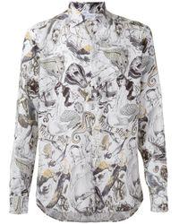 Etro | Black - Multi-print Shirt - Men - Linen/flax - Xl for Men | Lyst