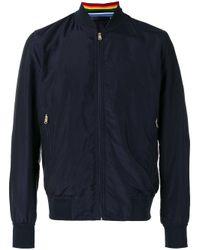 Paul Smith | Blue Bomber Jacket for Men | Lyst