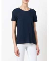 Dondup - Blue Crossed Slit Back T-shirt - Lyst