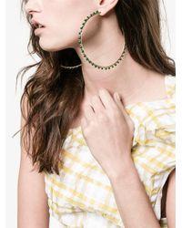 Rosantica - Metallic Angola Hoop Earrings - Lyst