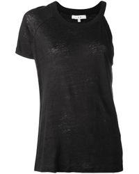 IRO | Black - Jane T-shirt - Women - Linen/flax - S | Lyst