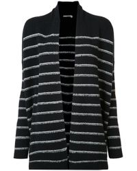 VINCE | Blue Striped Cardi-coat | Lyst
