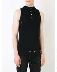 Balmain - Black High Neck Tank Top for Men - Lyst