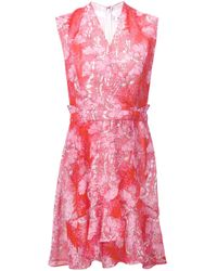 Carven | Pink Floral Lace Detailed Dress | Lyst