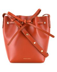 Mansur Gavriel | Brown Mini Bucket Shoulder Bag | Lyst
